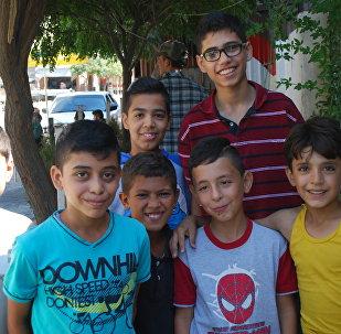 Des enfants syriens