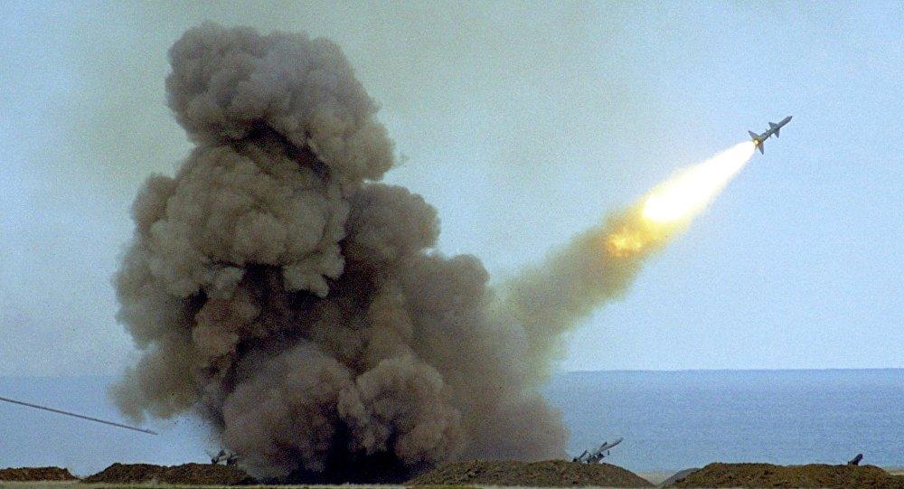 Ukraine. Tirs de fusées. Archive photo