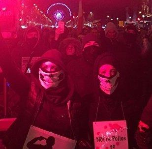 Paris : quinzième mobilisation des policiers en colère