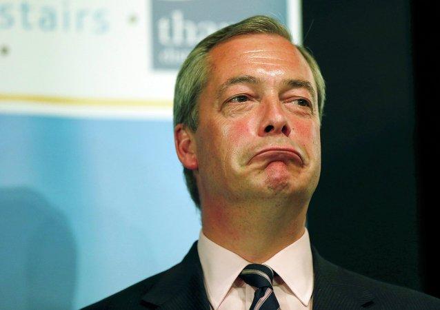 Nigel Farage, fondateur du Parti pour l'indépendance du Royaume-Uni (UKIP)