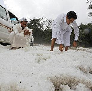 La neige en Arabie saoudite