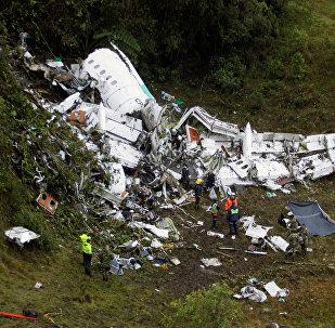 Le lieu du crash de l'avion