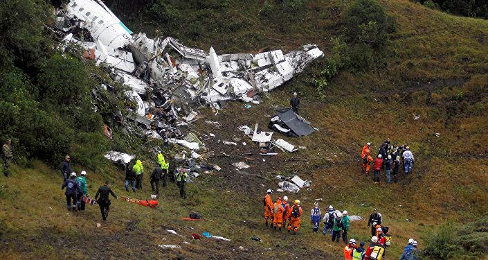 Les débris de l'avion écrasé en Colombie