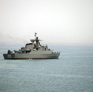 Un navire militaire iranien