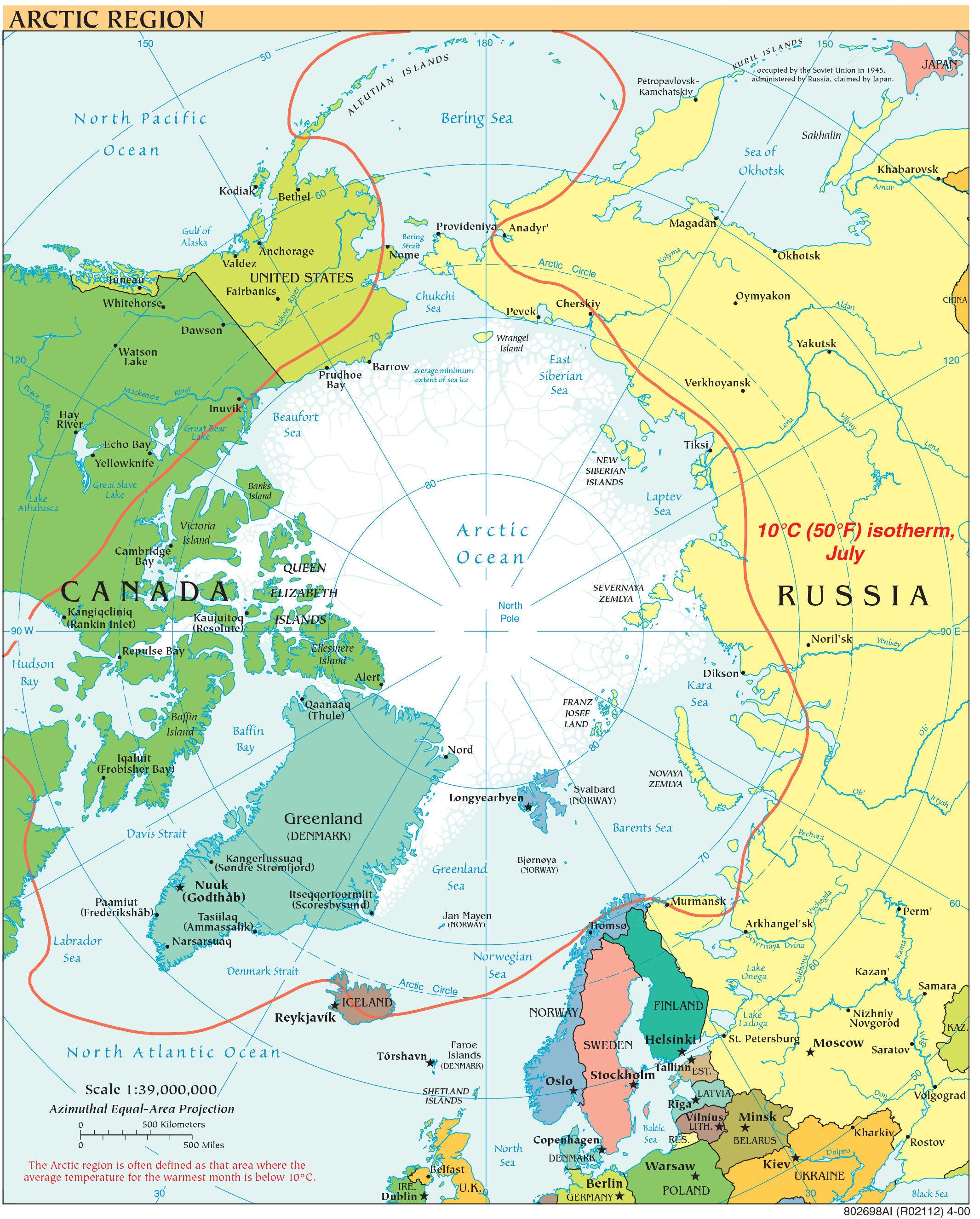 La région de l'Arctique, 2000