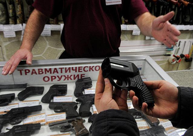 Un pistolet russe intéresse la police américaine