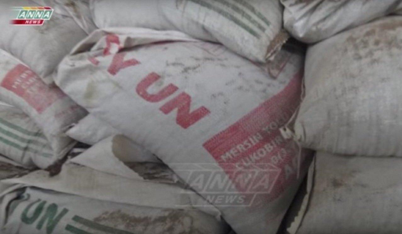 Les rebelles d'Alep utilisent les sacs d'aide humanitaire de l'Onu pour se protéger