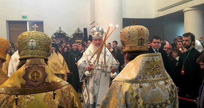 Le patriarche de Moscou Cyrille consacre la nouvelle cathédrale russe à Paris