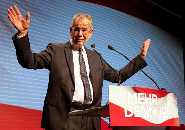 Alexander Van der Bellen, candidat à la présidence autrichienne