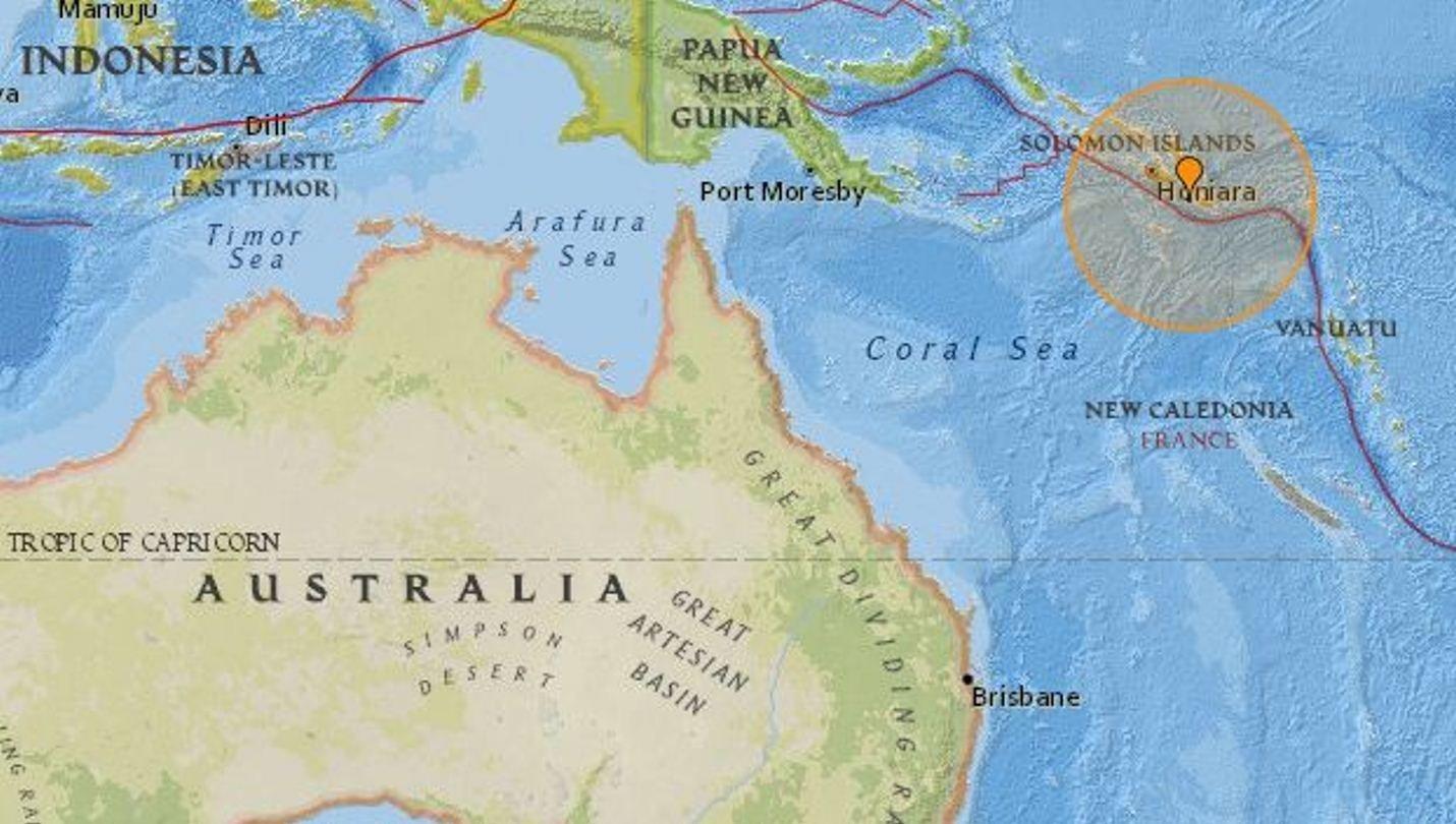 Séisme de magnitude 8.0 au large des îles Salomon, dans le Pacifique