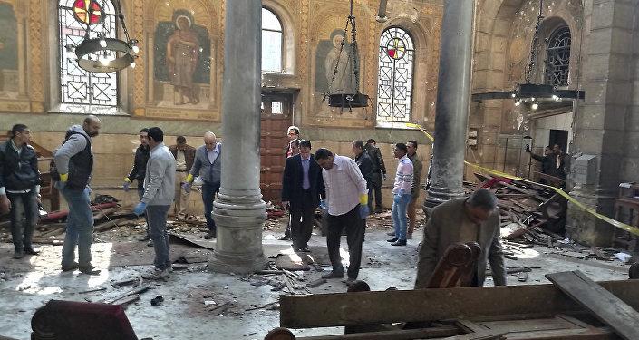 Égypte: une explosion frappe la Cathédrale Saint-Marc du Caire (vidéo)