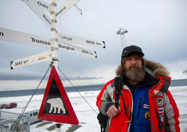 Российский путешественник Федор Конюхов на острове Шпицберген в рамках экспедиции Карелия – Северный Полюс – Гренландия