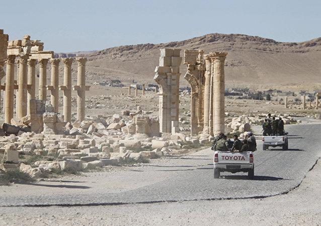 L'armée syrienne à Palmyre