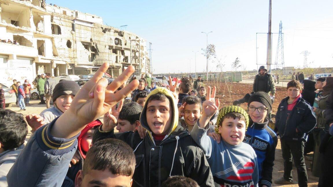 Des enfants à Alep
