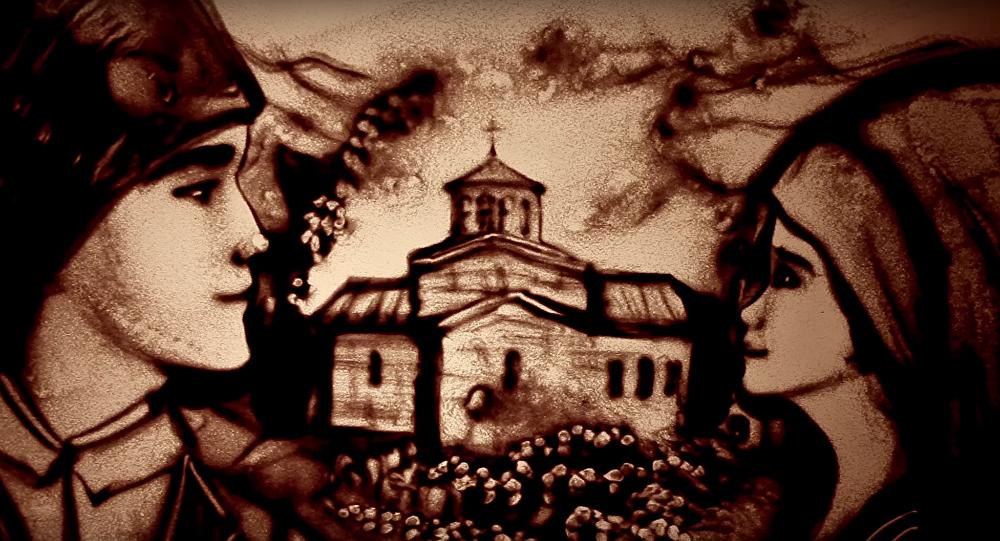 Une Criméenne crée un film de sable sur l'histoire héroïque de la Serbie