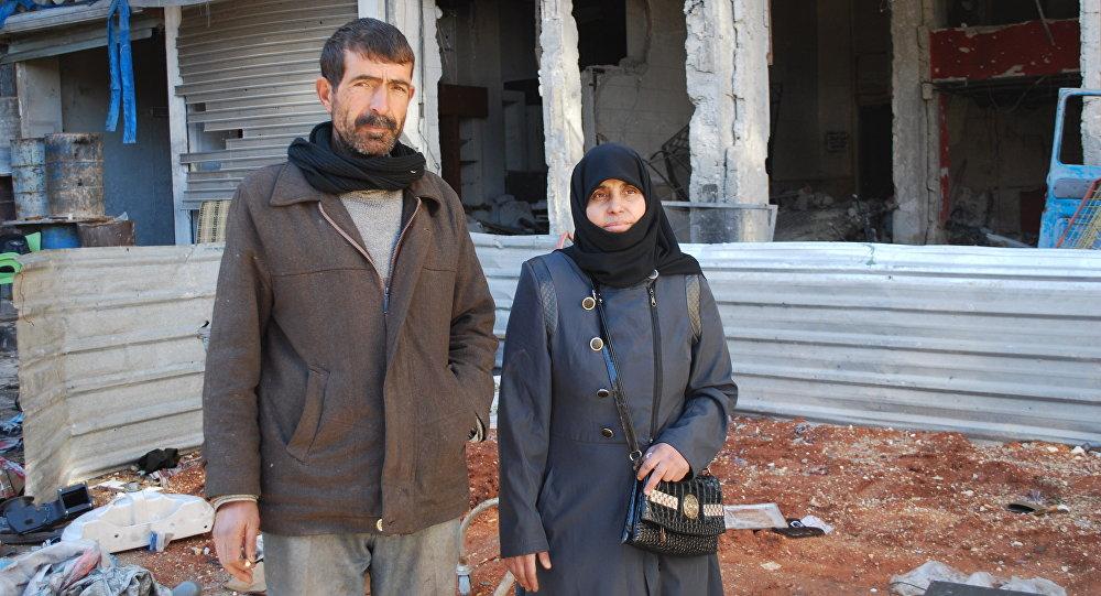 Des résidents d'Alep