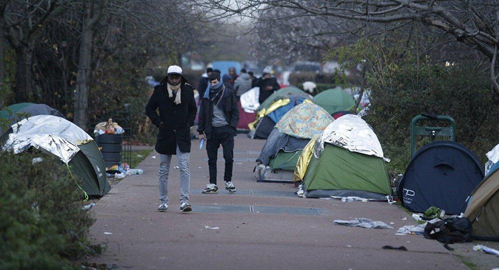Migrants à Saint-Denis