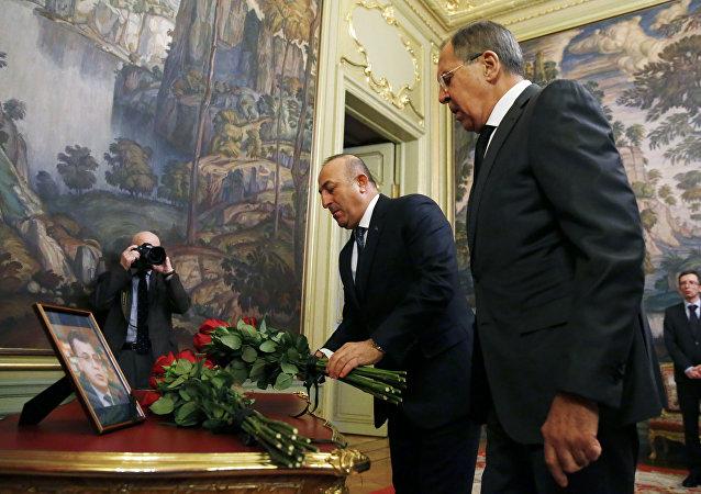 Sergei Lavrov et Mevlut Cavusoglu