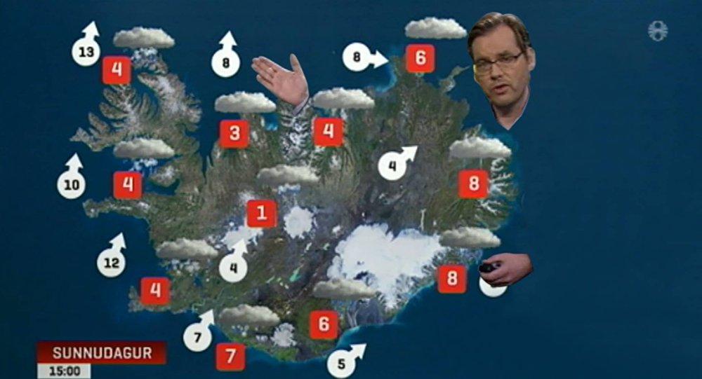 «Arrêtez de couvrir l'est de l'Islande, cher présentateur météo»