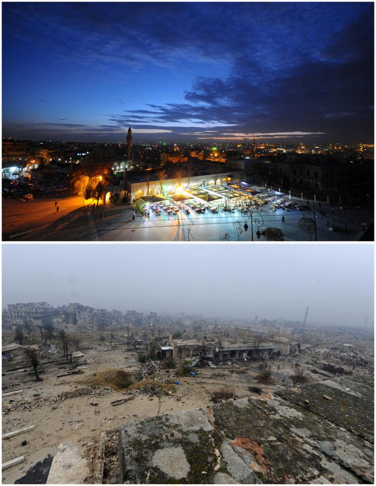 Les traces de la guerre dévastatrice à Alep