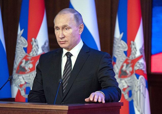 Vladimir Poutine, président russe