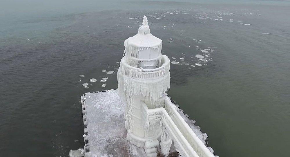 le phare St Joseph, le lac Michigan