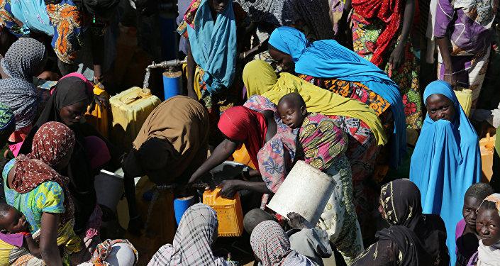 un marché de Maïduguri