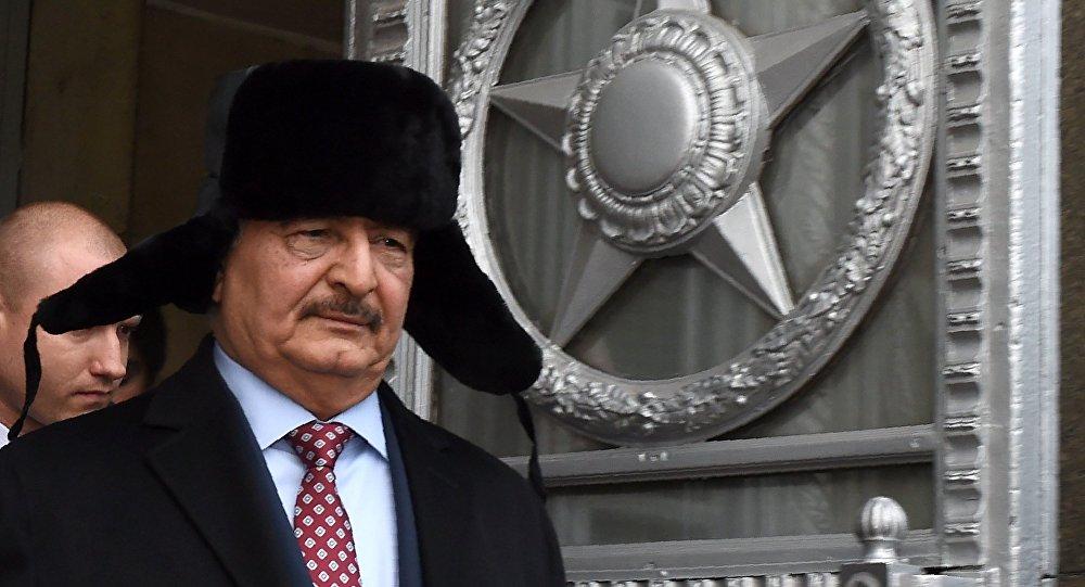 Le général libyen Khalifa Haftar à Moscou, le 29 novembre, 2016