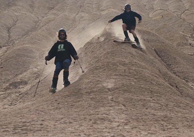 Ski sur sable