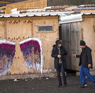 Camp de migrants. Grande-Synthe