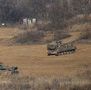 L'artillerie sud-coréenne. Image d'illustration