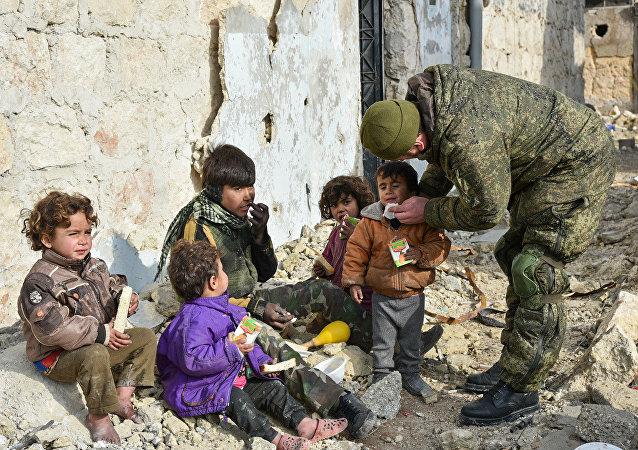 Soldat russe en Syrie