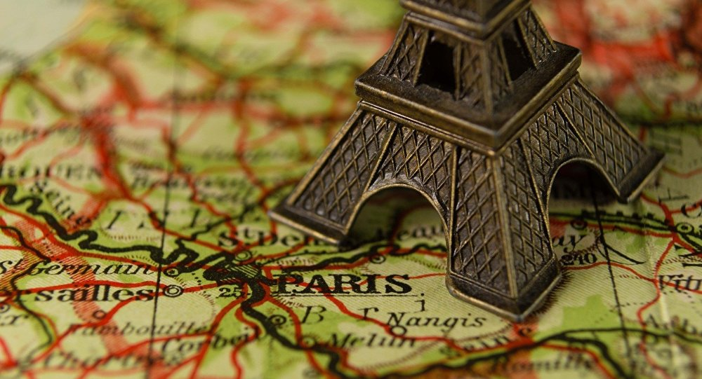 Paris sur la carte