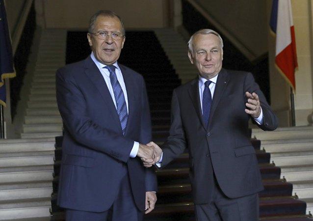 Sergueï Lavrov et Jean-Marc Ayrault
