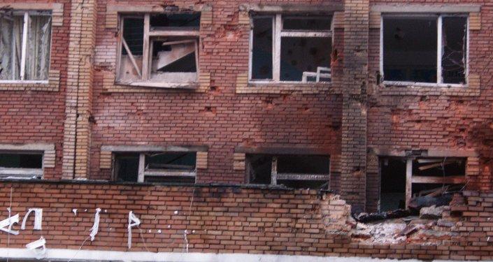 Destructions à Donetsk