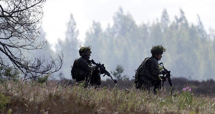 Soldats polonais pendant les exercices Saber Strike  2016.
