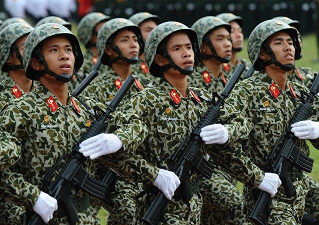 Des soldats vietnamiens