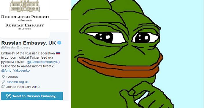 L'ambassade russe taquine Londres avec Pepe la grenouille, la Toile s'enflamme