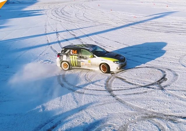 Incroyable drift d'hiver