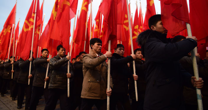 Manifestation à Pyongyang