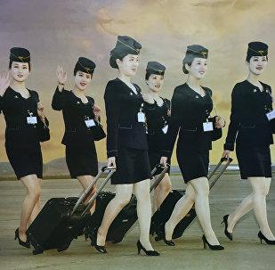 Les plus belles hôtesses de l'air nord-coréennes vous invitent à bord !