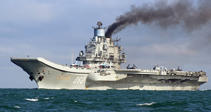 La première expédition opérationnelle du porte-avions Amiral Kouznetsov