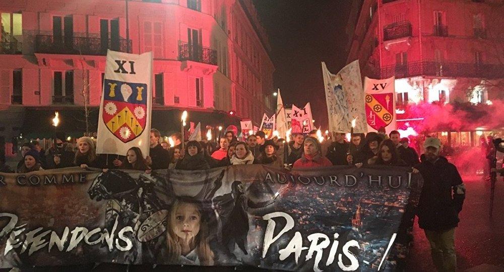 une manifestation identitaire à Paris