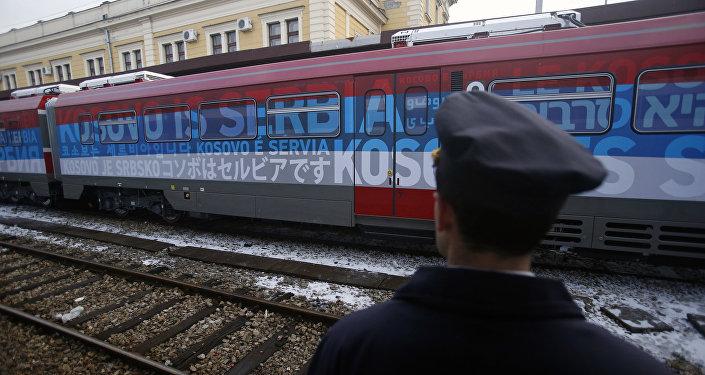 Le train Belgrade-Kosovo stoppé, «convulsions de l'administration sortante US»