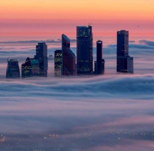 La capitale russe enveloppée dans  les nuages