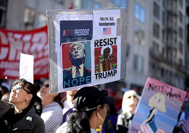 Manifestation anti-Trump à Los Angeles