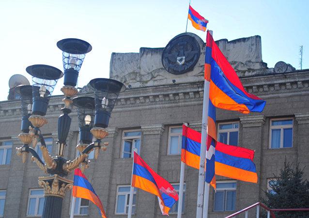 Le siège de la présidence de la République du Haut-Karabagh