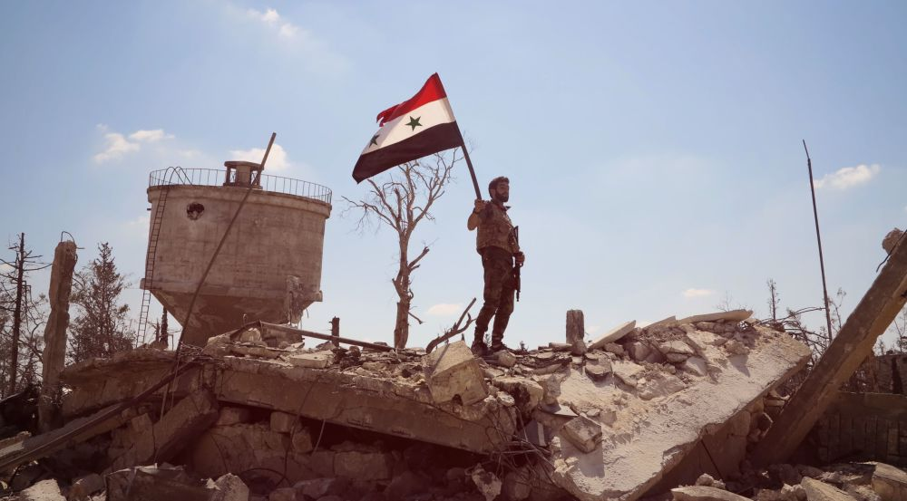 Après quatre mois d'offensive les troupes gouvernementales syriennes ont pris le contrôle d'un complexe d'écoles militaires situées au sud d'Alep, le 4 septembre 2016