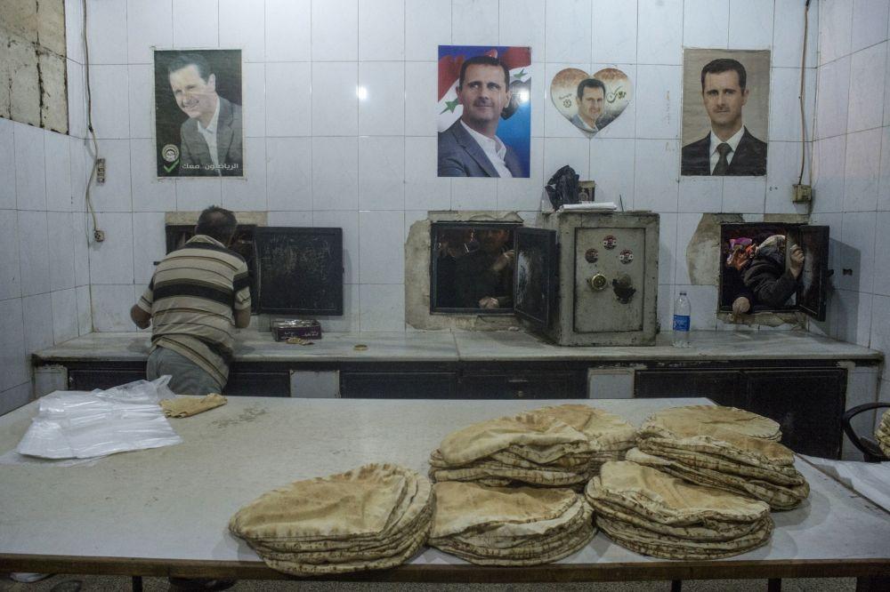 Une boulangerie de Damas, le 2 décembre 2015