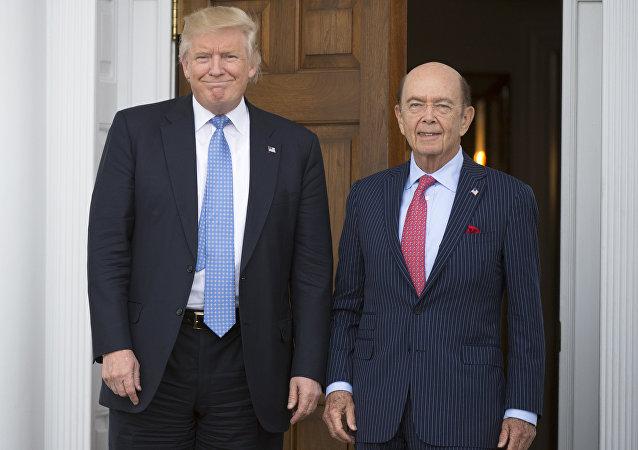Donald Trump et Wilbur Ross
